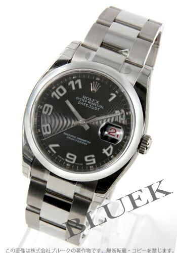 ロレックス Ref.116200 デイトジャスト ブラック(コンセントリック) アラビア メンズ