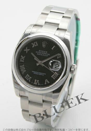 ロレックス Ref.116200 デイトジャスト ブラック(サンビーム) ローマン メンズ