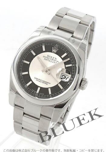 ロレックス Ref.116200 デイトジャスト ブラック&シルバー メンズ