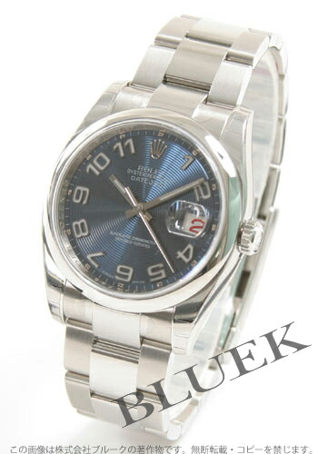 ロレックス Ref.116200 デイトジャスト ブルー(コンセントリック) アラビア メンズ