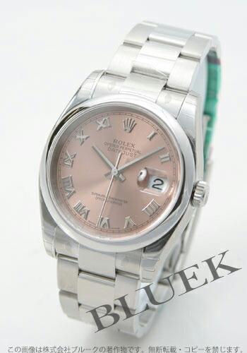 ロレックス Ref.116200 デイトジャスト ピンク ローマン メンズ