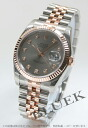 Rolex Ref.116231G date just diamond index PG combination gray men