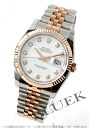 Rolex Ref.116231G Datejust diamond index PG duo white mens