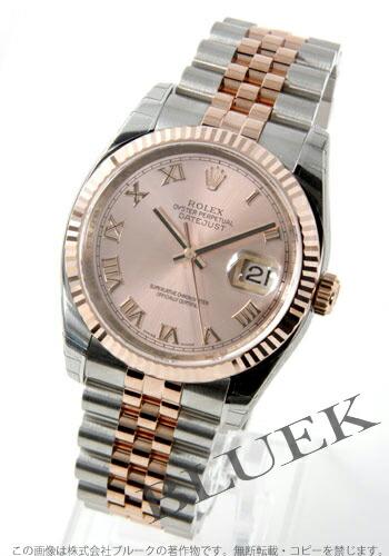ロレックス Ref.116231 デイトジャスト PGコンビ 5連ブレス ピンク ローマン メンズ