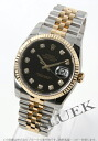 Rolex Ref.116233G Datejust diamond index YG Combi black mens