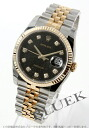 Rolex Ref.116233J Datejust diamond index YG Combi black mens