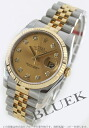Rolex date just Ref.116233G YG combination diamond index gold men