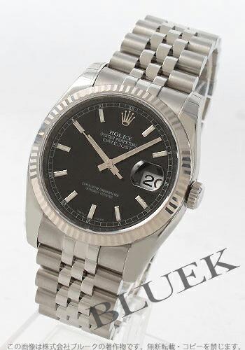 ロレックス Ref.116234 デイトジャスト WGベゼル 5連ブレス ブラック メンズ