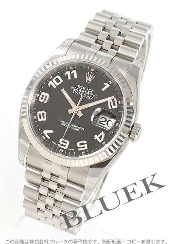ロレックス Ref.116234 デイトジャスト WGベゼル ブラック(コンセントリック) アラビア メンズ