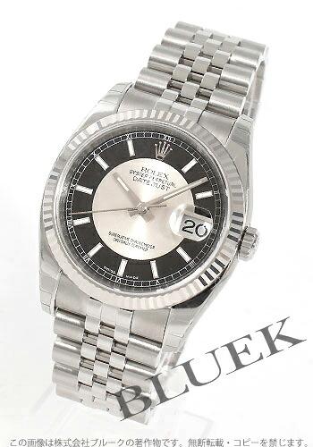 ロレックス Ref.116234 デイトジャスト WGベゼル ブラック&シルバー メンズ