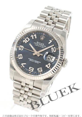 ロレックス Ref.116234 デイトジャスト WGベゼル ブルー(コンセントリック) アラビア メンズ