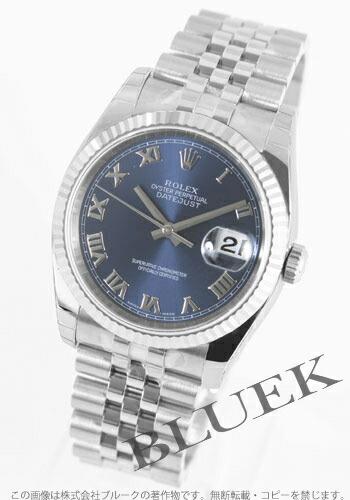 ロレックス Ref.116234 デイトジャスト WGベゼル ブルー ローマン メンズ