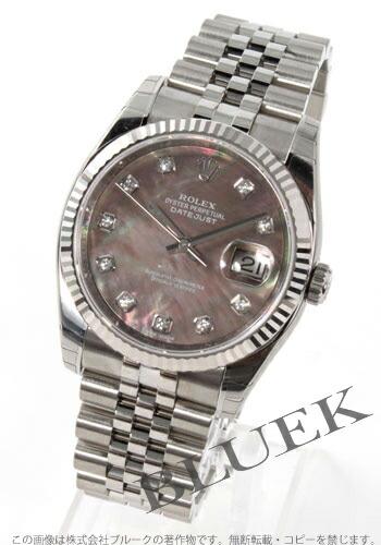 ロレックス Ref.116234NG デイトジャスト ダイヤインデックス WGベゼル グレーシェル メンズ