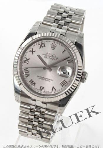 ロレックス Ref.116234 デイトジャスト WGベゼル グレー ローマン メンズ