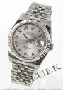 Rolex Ref.116234 date just WG bezel gray long novel men