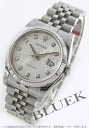 Rolex Datejust Ref.116234J WG bezel diamond index silver mens