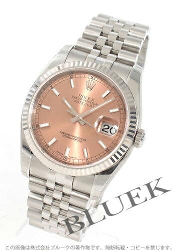 ロレックス Ref.116234 デイトジャスト WGベゼル ピンク メンズ