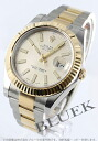 Rolex Ref.116333 date just YG combination ivory men