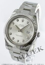 Rolex Ref.116334G Datejust diamond index WG bezel silver mens