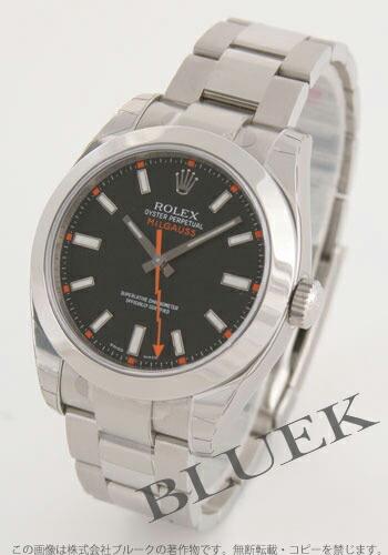 ロレックス Ref.116400 ミルガウス ブラック メンズ