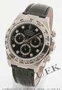 Rolex ROLEX Daytona diamond pure gold crocodile leather men's Ref.116519G