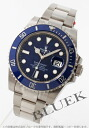 Rolex Ref.116619LB Submariner date WG pure gold blue mens