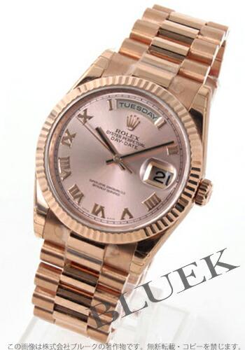 ロレックス Ref.118235 オイスターパーペチュアル デイデイト PG金無垢 ピンク ローマン メンズ