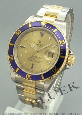 ロレックス Ref.16613SG サブマリーナ デイト ダイヤインデックス YGコンビ ゴールド メンズ