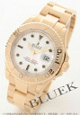 Rolex Ref.16628 sailing master YG pure gold white mens