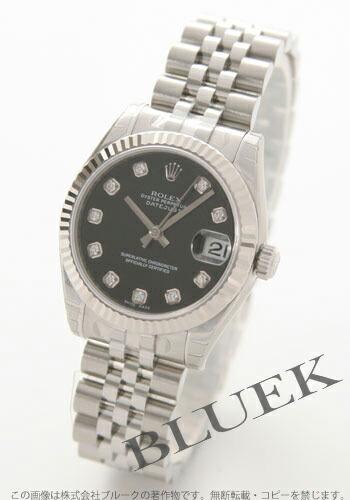 ロレックス Ref.178274G デイトジャスト ダイヤインデックス WGベゼル ブラック ボーイズ