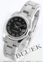 Rolex date just Ref.179160 black long novel Lady's