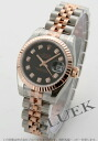 Xmas sale ★ Rolex Ref.179171G date just diamond index PG combination black Lady's
