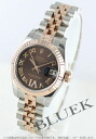 Rolex Ref.179171 Datejust diamond index RG Combi 5-breath chocolate brown Roman ladies