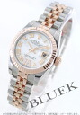 Rolex Ref.179171N Datejust RG Combi diamond index 5-breath white shell Roman ladies