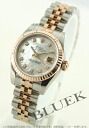 Rolex Ref.179171 Datejust diamond index RG Combi 5-breath white shell ladies