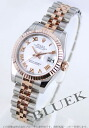 Rolex Ref.179171 date just PG combination white long novel Lady's