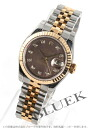 Xmas sale ★ Rolex Ref.179173NG date just diamond index YG combination gray shell Lady's
