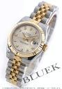 Rolex Datejust Ref.179173G YG Combi diamond index silver ladies