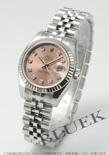 ロレックス Ref.179174G デイトジャスト ダイヤインデックス WGベゼル ピンク レディース