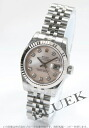 Rolex Ref.179174NG Datejust diamond index WG bezel pink shell ladies