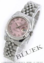 Xmas sale ★ Rolex date just Ref.179174 WG bezel pink long novel Lady's