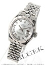 Rolex Ref.179174NR date just WG bezel white shell long novel Lady's