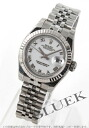 Xmas sale ★ Rolex Ref.179174 date just WG bezel white long novel Lady's