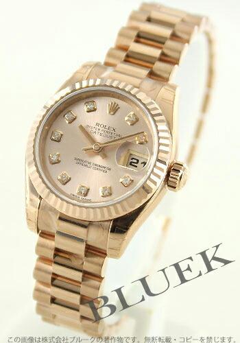 ロレックス Ref.179175G デイトジャスト PG金無垢 ダイヤインデックス ピンク レディース