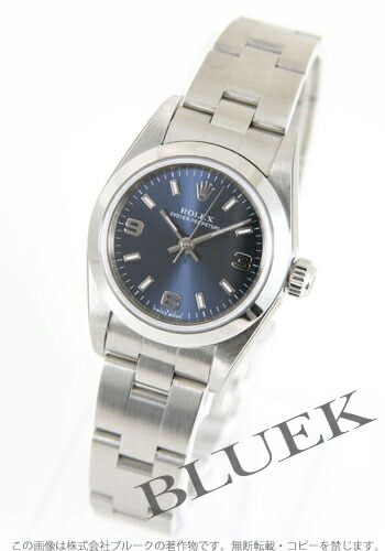 ロレックス Ref.76080 オイスターパーペチュアル ブルー アラビア レディース