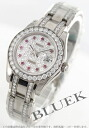 Rolex date just Ref.80299 WG pure gold diamond & ruby Lady's
