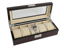 Luxury watch collections case 5 pieces storage Brown RWB5P