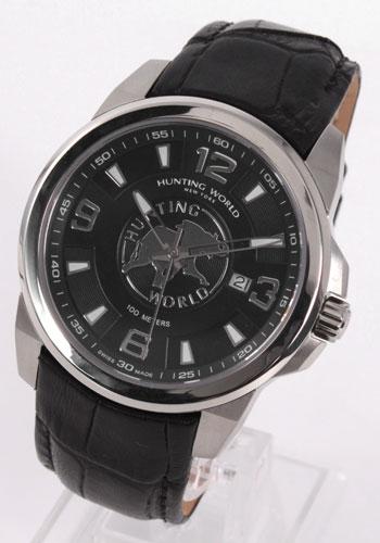 ハンティングワールド ラティバ レザー ブラック メンズ HW906SBKBK