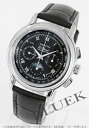 Zenith Chronomaster T El Primero chronograph Moonphase alligator leather black mens 01.0240.410/23.C495 watch clock