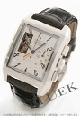 Zenith port Royale open El Primero chronograph with crocodile leather Black / Silver mens 03.0540.4021/01.C503